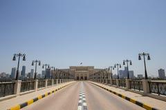 Al Majaz Amphitheatre in Scharjah, Vereinigte Arabische Emirate Stockfotografie