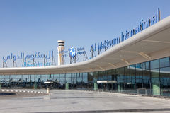 Al Maktoum International Airport i Dubai Arkivbilder