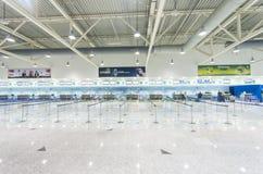 Al Maktoum International flygplats på det centrala området för Dubai värld Arkivbild