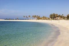 Al Mamzar Beach em Dubai Foto de Stock Royalty Free