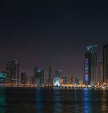 Al-Mamzar lake in Sharjah Royalty Free Stock Photography
