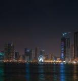 Al-Mamzar sjö i Sharjah Royaltyfri Fotografi
