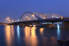 Al Maqtaa bridge in Abu Dhabi Royalty Free Stock Photos