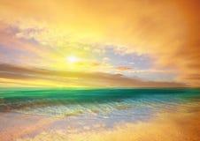 Al mare arancione Fotografie Stock Libere da Diritti