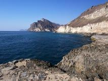 Al Marneef, Dhofar region, Sultanate of Oman. Omani coast in Al Marneef, western Dhofar, Oman Stock Photography