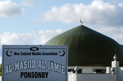 Al Masjid Al Jamie meczet w Ponsonby Auckland Nowa Zelandia NZ NZ Fotografia Royalty Free