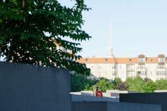 Al memoriale agli ebrei assassinati di Europa fotografia stock libera da diritti