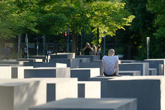 Al memoriale agli ebrei assassinati di Europa fotografia stock
