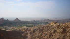Al miejsca 4k czasu ain turystyczny upływ blisko Dubai zbiory wideo