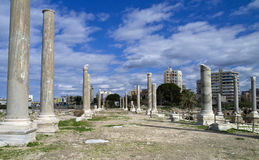 Al Mina archaeological site, Tyre, Lebanon Stock Photos