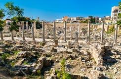 Al Mina archeologiczny miejsce w oponie, Liban zdjęcia royalty free