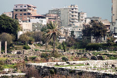 Al Mina ruins in Tyre. Al Mina ruins and architecture of Tyre, Lebanon Stock Images