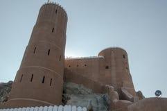 Al Mirani Fort, Muscateldruif, Oman Royalty-vrije Stock Foto's