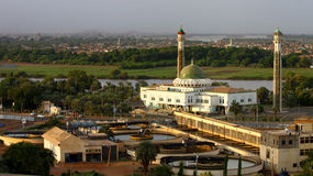 Al-Mogran Moskee, Khartoum, de Soedan. Royalty-vrije Stock Afbeelding