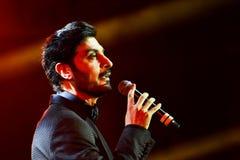 Al-Mohandis d'Majid de chanteur exécute sur l'étape pendant le grand concert des récompenses 2016 de musique d'Apple Photographie stock