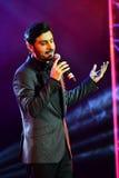 Al-Mohandis d'Majid de chanteur exécute sur l'étape pendant le grand concert des récompenses 2016 de musique d'Apple Photo libre de droits