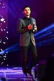 Al-Mohandis d'Majid de chanteur exécute sur l'étape pendant le grand concert des récompenses 2016 de musique d'Apple Photos stock