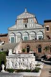 Al Monte de Florencia, Toscana, Italia - de San Miniato y cementerio Imagen de archivo libre de regalías