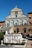 Al Monte di Firenze, Toscana, Italia - del San Miniato e cimitero Immagine Stock Libera da Diritti