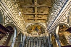 Al Monte, Firenze, Italia di San Miniato della basilica Fotografie Stock Libere da Diritti
