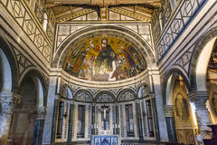 Al Monte, Firenze, Italia di San Miniato della basilica Immagini Stock Libere da Diritti
