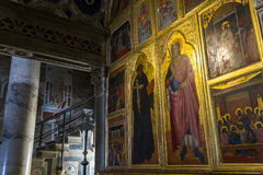 Al Monte, Florence, Italie de San Miniato de basilique Photo stock