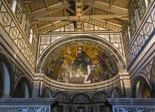 Al Monte, Florence, Italie de San Miniato de basilique Photo libre de droits