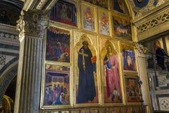 Al Monte, Florence, Italie de San Miniato de basilique Images libres de droits