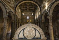Al Monte, Florence, Italie de San Miniato de basilique Photographie stock libre de droits