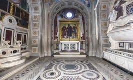 Al Monte, Florence, Italie de San Miniato de basilique Images stock