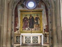 Al Monte, Florence, Italie de San Miniato de basilique Image stock