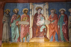 Al Monte, Florencia, Italia de San Miniato de la basílica Imágenes de archivo libres de regalías