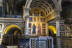 Al Monte, Florencia, Italia de San Miniato de la basílica Fotografía de archivo libre de regalías