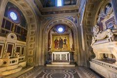 Al Monte, Florencia, Italia de San Miniato de la basílica Fotos de archivo libres de regalías