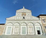 Al Monte van kerksan miniato in Florence, Italië stock foto