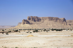 Al Moqbel Palaces. Bedouin tent settlements below the Moqbel Palaces near Riyadh, Saudi Arabia, KSA Stock Photo