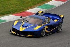 Al Mugello 2016 d'essai de Ferrari FXX K image libre de droits