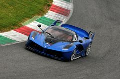 Al Mugello 2016 d'essai de Ferrari FXX K images stock