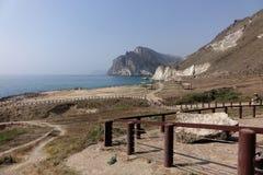 Al Mughsail Salalah, governorate di Dhofar, sultanato dell'Oman Immagini Stock Libere da Diritti