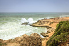 Al Mughsayl blow holes area Royalty Free Stock Photography