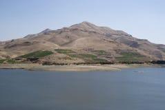 Al Mujib tama, wadi Mujib, Południowy Jordania Obrazy Stock