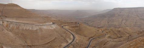 Al Mujib van de wadi Royalty-vrije Stock Foto