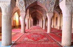 Al-Mulk van Nasir moskee, Shiraz, Iran stock afbeelding