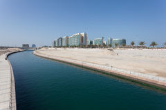 Al Muneera Canal in Abu Dhabi Stock Images