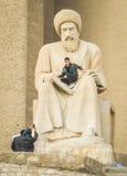 Al Mustewfi雕象在街市阿尔贝拉 免版税库存图片
