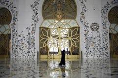 Al Nahyan van Zayed van de sjeik Moskee - Abu Dhabi stock fotografie