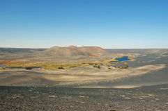 Al Namus Volcano de Waw, Líbia Imagem de Stock