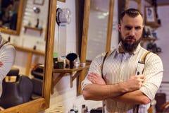 Al negozio di barbiere immagini stock