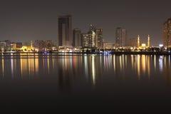 Al Noor Madzhaz na brzegowej Khalid lagunie i Al Sharjah emiraty arabskie united Obrazy Stock
