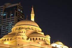 Al Noor Moschee in der Scharjah-Stadt lizenzfreie stockfotos